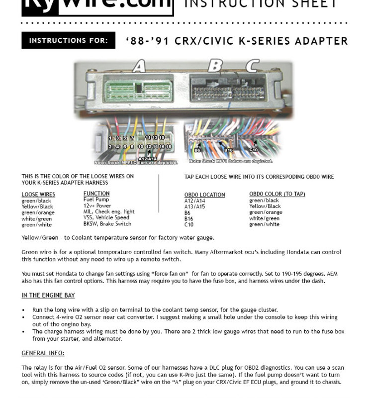 88-91 crx/civic ef k-series adapter instructions | rywire blog :  motorsports electronics