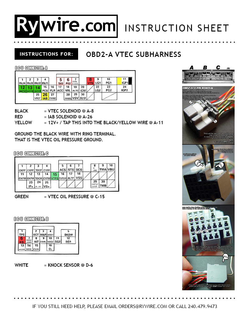 Rywire_Instructions_OBD2a VTEC Subharness obd2a vtec subharness instruction rywire blog motorsports Vtec Solenoid Dress Up at cos-gaming.co