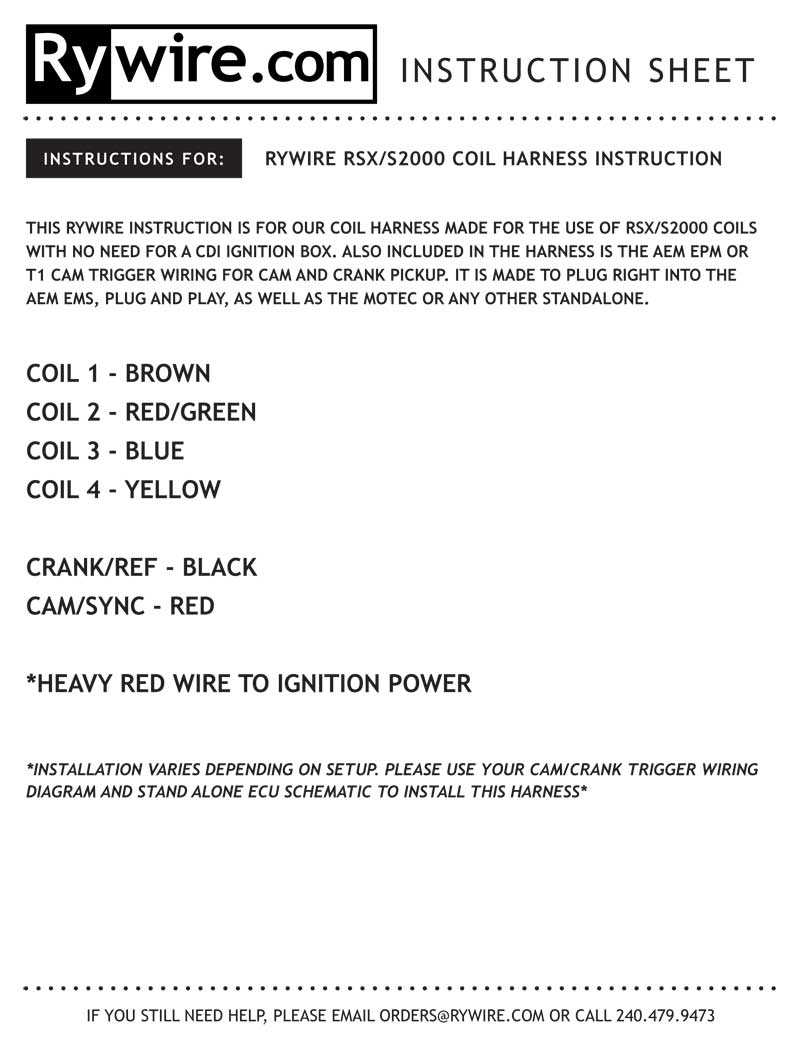Instruction Sheet Aem Wiring Harness